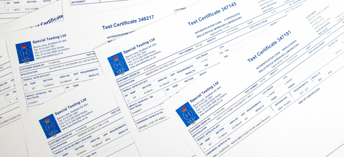 Our Quality Management System complies with both ISO 17025 & NADCAP